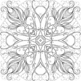 Het volwassen kleuren pagina-mandala7 vector illustratie