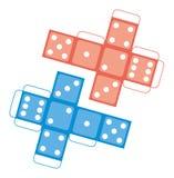 Het voor het drukken geschikte Casino dobbelt Malplaatje, Vector Stock Foto's