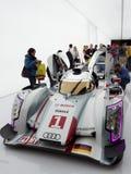 Het Voor zijaanzicht van Audi e-Tron R18 Royalty-vrije Stock Foto's