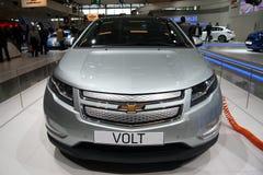 Het vooraanzicht van de Volt van Chevrolet bij de Show van de Motor van Parijs Stock Afbeelding