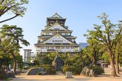 Het vooraanzicht van Osaka Castle, Japan Royalty-vrije Stock Fotografie