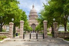 Het vooraanzicht van Texas State Capitol Stock Foto