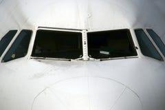 Het vooraanzicht van vliegtuigen Royalty-vrije Stock Afbeeldingen