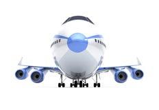 Het vooraanzicht van vliegtuigen Stock Afbeelding