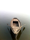 Het vooraanzicht Varanasi van de rijboot Royalty-vrije Stock Afbeelding