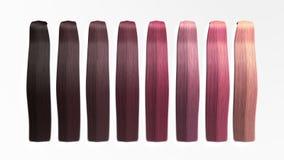 Het voorbeeld van verschillende 3d haarkleuren geeft op wit geen schaduw terug Royalty-vrije Stock Foto