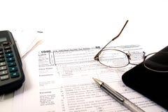 Het voorbereiden van Belastingen Stock Foto's