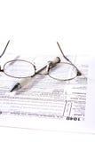 Het voorbereiden van Belastingen Royalty-vrije Stock Afbeeldingen