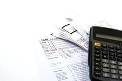Het voorbereiden van Belastingen Stock Afbeeldingen
