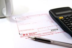 Het voorbereiden van Belastingen Stock Foto