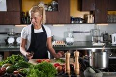Het voorbereiden van de groenten Royalty-vrije Stock Foto's