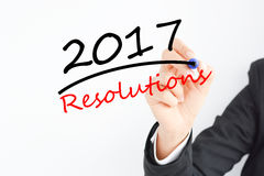 Het voorbereiden van de resoluties voor het aanstaande jaar van 2017 Stock Foto's