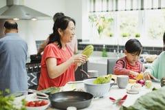 Het voorbereiden van Diner met de Familie royalty-vrije stock foto's