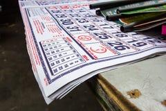 Het voorbereiden van kalender voor nieuw jaar Royalty-vrije Stock Foto