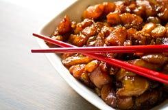 Het voorbereiden van Koreaans voedsel Stock Foto's