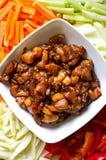 Het voorbereiden van Koreaans voedsel royalty-vrije stock afbeelding