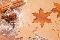Het voorbereiden van peperkoekkoekjes Royalty-vrije Stock Foto's