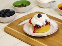 Het voorbereiden van Vers Berry Shortcake Dessert VIII Royalty-vrije Stock Afbeeldingen