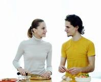 Het voorbereiden van voedsel Royalty-vrije Stock Foto