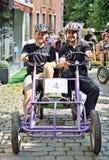 Het voorbereidingen treffen om in vijfde Gocarts-ras in Halle te beginnen Royalty-vrije Stock Foto's