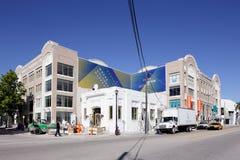 Het voorbereidingen treffen voor 2013 Art Basel in Miami stock foto's