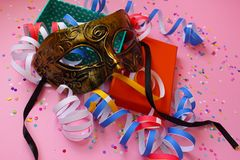 Het voorbereidingen treffen voor Carnaval stock fotografie