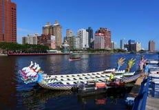 Het voorbereidingen treffen voor 2016 Dragon Boat Festival Royalty-vrije Stock Foto