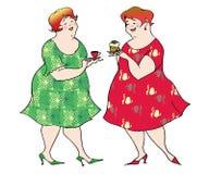 Het voorbereidingen treffen voor een dieet royalty-vrije illustratie