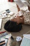 Het voorbereidingen treffen voor examen stock afbeeldingen