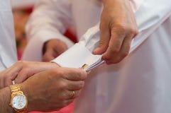 Het voorbereidingen treffen voor het huwelijk Royalty-vrije Stock Foto's