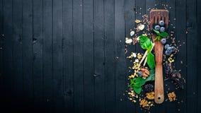 Het voorbereidingen treffen voor het koken Gezond dieetvoedsel Stock Foto