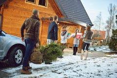 Het voorbereidingen treffen voor Nieuwe jaarviering Stock Foto