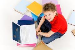 Het voorbereidingen treffen voor school Stock Foto's