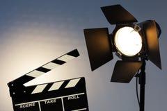 Het voorbereidingen treffen voor video vangt en fotospruit Stock Foto's