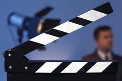Het voorbereidingen treffen voor video vangt en fotospruit Stock Foto