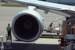 Het voorbereidingen treffen voor Vlucht Stock Foto's