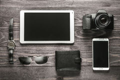 Het voorbereidingen treffen voor zakenreisconcept Stock Foto's