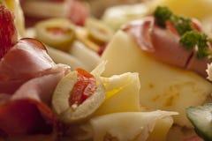 Het voorgerecht van de ham en van de kaas Royalty-vrije Stock Fotografie