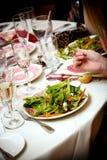Saladevoorgerecht royalty-vrije stock foto's
