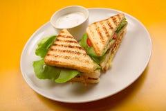 Het voorgerecht van de sandwich Stock Foto's