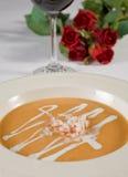 Het voorgerecht van de soep à la carte Royalty-vrije Stock Foto's