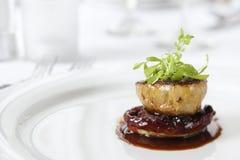 Het Voorgerecht van het diner met versiert Royalty-vrije Stock Fotografie