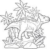 Het voorhistorische reptiel ging voor een gang royalty-vrije stock foto's