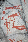 Het voorhistorische schilderen stock foto