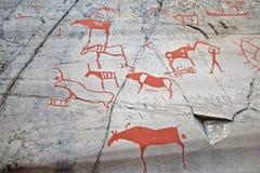 Het voorhistorische schilderen Stock Fotografie
