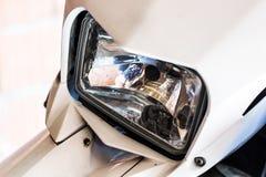 Het voorlicht van de motorfiets Royalty-vrije Stock Foto's