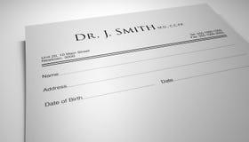 Het voorschrift van artsen Royalty-vrije Stock Foto