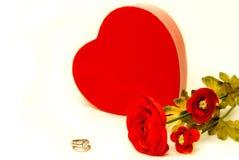 Het Voorstel van de Overeenkomst van valentijnskaarten stock afbeelding