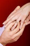 Het voorstel van het huwelijk Stock Afbeelding