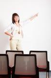 Het voorstellen van de vrouw Stock Foto's